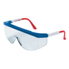Crews Tomahawk Protective Eyewear, Clear Polycarbon Lenses, Red/White/Blue Nylon Frame CRW 135-TK130
