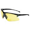 Smith & Wesson V60 30-06 Rx Safety Eyewear, +1.5 Diopter Amber Polycarb Antiscratch Lens, Black SMW 138-19893