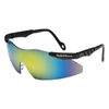 Smith & Wesson Magnum 3G Safety Eyewear, Gold Metallic Mirror Anti-Scratch Lenses, Black Frame SMW 138-19940