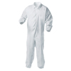 Kimberly Clark Professional KleenGuard® A35 Coveralls, Zipper Front, Elastic Wrists/Ankles, White, 2XL KIM 138-38930