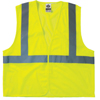 Ergodyne Glowear 8205Hl Class 2 Super Econo Vests, Hook/Loop Closure, S/M, Lime ERG 150-20973