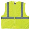 Ergodyne Glowear 8205Z Type R Class 2 Vests, Zipper, Large/X-Large, Lime ERG 150-20995