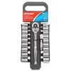 Cooper Hand Tools Crescent 20 Piece Drive Socket Wrench Set, 3/8 In, SAE/Metric, 12 Point ORS 192-CSWS7