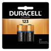 Duracell Duracell Batteries, Lithium Cell, 3 V, 123, 2 Per Card DUR243-DL123AB2PK