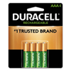 Duracell Pre-Charged Rechargeable Batteries, Nimh, 1.5 V, Aa DUR243-DX1500B4N