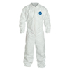 Protection Apparel: DuPont - Tyvek Coveralls With Elastic Wrists And Ankles, Large, White