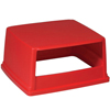Rubbermaid Commercial Glutton® Hood-Top Receptacle Lid RCP 256V RED