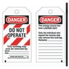 Brady Lockout Tags, 5 3/4 In X 3 In, Economy Polyester, Danger, Do Not Operate BRY 262-66064