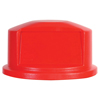 Rubbermaid Commercial Round Brute® Dome Top RCP 2637-88 RED
