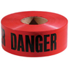 """Traffic Safety Safety Tapes: Empire Level - 3""""x 1000' Red w/ BlackDanger Tape"""