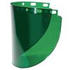 Fibre-Metal High Performance Wide View Faceshield Windows, Dark Green, Wide View, 16 1/2X8 FBM 280-4178DGNBP