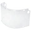 Fibre-Metal Faceshield Windows For Dual Crown Series, FM400/FM500,16.5X8, Clear, Bulk Pack FBM 280-6750CLBP