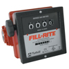 Fill-Rite Mechanical Flow Meters, 1 1/2 In Inlet, 6 Gal/Min - 40 Gal/Min, 4 Wheel ORS 285-901C1.5
