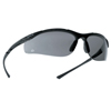 Ring Panel Link Filters Economy: Bolle - Contour Series Safety Glasses, Smoke Polycarb Anti-Scratch Anti-Fog Lenses, Blk