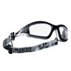 Ring Panel Link Filters Economy: Bolle - Tracker Series Safety Glasses, Anti-Scratch Anti-Fog Clear Lenses, Black/Gray