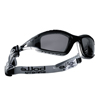 Ring Panel Link Filters Economy: Bolle - Tracker Series Safety Glasses, Anti-Scratch Anti-Fog Smoke Lenses, Black/Gray