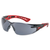 Ring Panel Link Filters Economy: Bolle - Rush+ Series Safety Glasses, Smoke Polycarbonate Lenses, Black/Grey Temple
