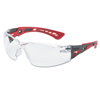Ring Panel Link Filters Economy: Bolle - Rush+ Series Safety Glasses, Clear Polycarbonate Lenses, Red/Grey Temple