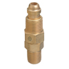 Western Enterprises Inert Arc Hose & Torch Adapters, Brass, Straight, Male/Male, Lh To Rh WSE 312-AW-404