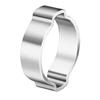 Oetiker 2-Ear Clamps, Zinc-Plated, 0.709-0.866 Dia, 0.354W, Steel, 100/Bg OET 320-10100029