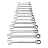 GearWrench 13 Piece Combination Ratcheting Wrench Sets GWR 329-9312