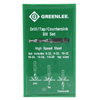 Greenlee Drill/Tap Sets GRL 332-DTAPKIT