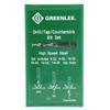 Greenlee - Drill/Tap Sets