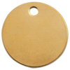C.H. Hanson Brass Tags, 18 Gauge, 1 In Diameter, 3/16 In Hole, Round CHH 337-1078B