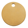 C.H. Hanson Brass Tags, 18 Gauge, 1 1/2 In Diameter, 3/16 In Hole, Round CHH 337-1098B