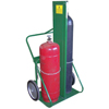 Saf-T-Cart 150 Series Carts, Holds 2 Cylinders, 9 1/2 In-12 1/2 In Dia., W/Firewall STC 339-401-14FW