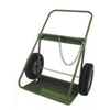 Saf-T-Cart 400 Series Carts, Holds 2 Cylinders, 9.5-12.5 Dia., 16 In Pneumatic Wheels STC 339-402-16