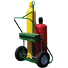 Saf-T-Cart 400 Series Carts, Holds 2 Cylinders, 9.5-12.5 Dia., 16 Pneum.Wheels, 62 H STC 339-552-16