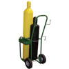 Saf-T-Cart Industrial Series Carts, Holds 2 Cylinders, 10 In Semi-Pneumatic Wheels STC 339-600-10