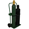 Saf-T-Cart 800 Series Carts, Holds 2 Cylinders, 8 In-9.5 In Dia., 10 In Polyolefin Wheels STC 339-822-10
