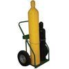 Material Handling: Saf-T-Cart - 800 Series Carts, Holds 2 Cylinders, 9.5 In Dia., 16 In Pneumatic Wheels