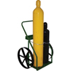 Saf-T-Cart 800 Series Carts, Holds 2 Cylinders, 9.5 In Dia., 20 In Steel Wheels STC 339-863-20