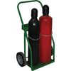 Saf-T-Cart Small & Medium Cylinder Carts, Holds 2 Cylinders, 8 In Semi-Pneumatic Wheels STC 339-CTR-110-1T