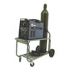 Material Handling: Saf-T-Cart - Running Gear Series Carts, Holds 1 Cylinder, 10 In Polyolefin Wheels