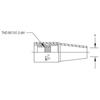 Tweco Weldskill Nozzles, 1/2, For Part Nos. 51, 51-23 TWE 358-1210-1341