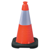 "Clean and Green: TrafFix Devices - VizCon Enviro Cones, 18 In, 3 Lb, 1 - 6"" Reflective Collar, LDPE, Orange"