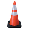 "Clean and Green: TrafFix Devices - VizCon Enviro Cones, 28 In, 7 Lb, 1 - 4"" & 1 - 6"" Reflective Collar, LDPE, Orange"