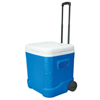 breakroom appliances: Igloo - Ice Cube Roller Coolers, 60 Qt, Blue
