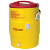 water dispensers: Igloo - Heat Stress Solution Water Coolers, 10 Gallon, Red And Yellow