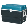 Igloo Maxcold&Reg; Extended Performance Coolers, 50 Qt, Jet Carbon/Ice Blue/White IGL385-49492
