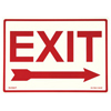 Jessup Glow In The Dark Exit Signs 397-EG-7520-F-102-RP