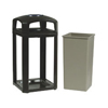 waste receptacle and can liners: Landmark Series® Classic Dome Top Container and Ashtray