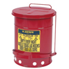 Justrite Red Oily Waste Cans JUS 400-09100