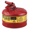 Justrite 2.5g/9.5l Safe Can Red ORS 400-7125100