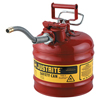 Justrite Type II Accuflow Safety Cans, Flammables, 1 Gal, Red JUS 400-7210120