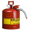 Justrite Type II AccuFlow™ Safety Cans JUS 400-7250130